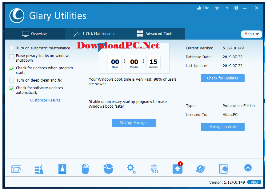 Glary Utilities Pro Free Download for PC